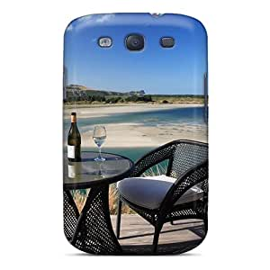 Tough Galaxy KKm4266bwJW Case Cover/ Case For Galaxy S3(romantic Glass Of Wine)