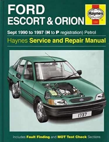 ford escort and orion 90 97 service and repair manual haynes rh amazon com 1997 ford escort repair manual pdf Ford Escount