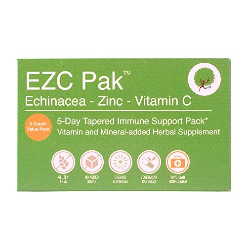 EZC Pak 5 Day Immune Support Boost For Cold and Flu - 2 Pack