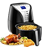 Habor Air Fryer, 3.8QT Air Fryer Xl Oven, Oilless Deep Fryer Cooker with Digital LCD Screen, 1500W Power Air Fryer Auto Off and Memory Function, Detachable Basket Dishwasher Safe, Recipes Included Review