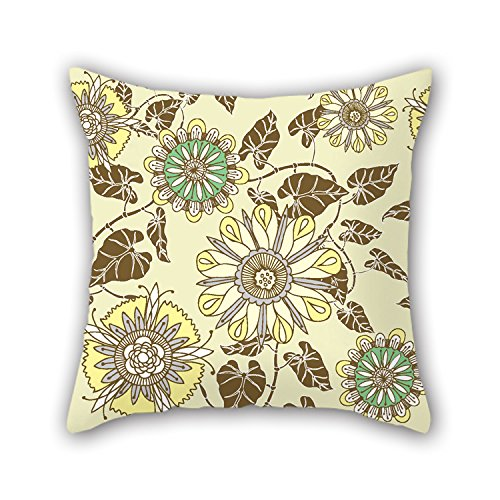 Bestseason The Flower Christmas Pillow Covers Of 20 X 20 Inches / 50 By 50 Cm Decoration Gift For Drawing Room Living Room Pub Bar Son Festival (2 Sides)