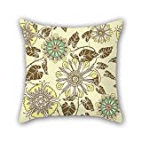 NICEPLW Floweret Pillow Shams 18 X 18 Inches / 45 By 45 Cm Best Choice For Dining Room,chair,couples,son,causeuse,car Seat With Two Sides