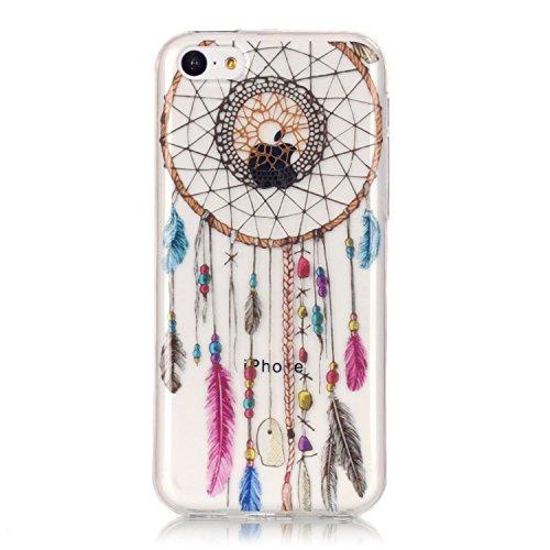Hülle iPhone 5C , LH Farbe Traumfänger Tasche Schutzhülle TPU Weich Muschel Silikon Handyhülle Schale Cover Case Gehäuse für Apple iPhone 5C