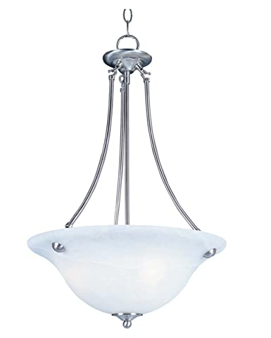 Pendants 3 Light Bulb Fixture With Satin Nickel Finish Iron Material