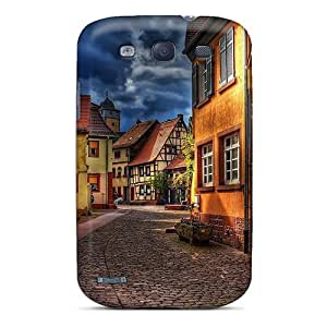 New Fashion Premium Tpu Case Cover For Galaxy S3 - Beautiful Side Street In Town