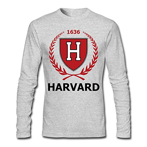 Men Harvard H Long Sleeve T-Shirt Gray]()
