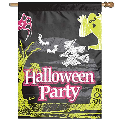 XIAOTT Halloween Ghost Party Welcome Home Garden Flag for House to Light up Your Home 27 × 37