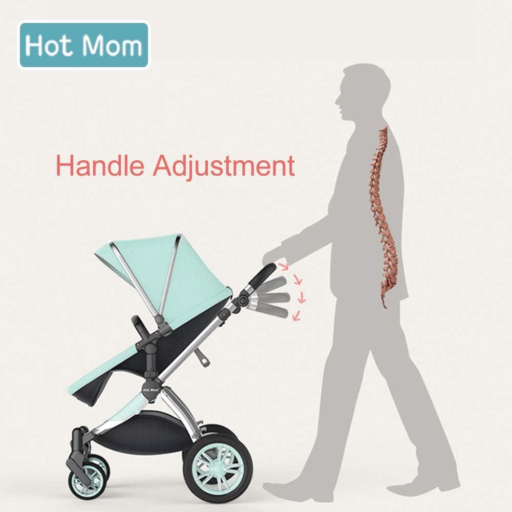 Multi cochecito 2 en 1 Carrito Bebe Hot Mom silla de paseo el capazo se convierte f/ácilmente en una silla y viceversa 2020 estilo de vida 889 Asiento para beb/é vendido por separado Negro