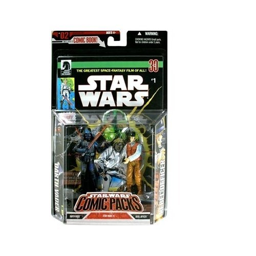 mic Pack - Darth Vader & Rebel Officer Figures - Dark Horse Star Wars #1 Comic - Limited Edition - Mint - Collectible - (PR) ()