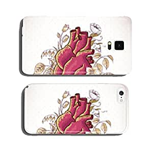 Vintage Floral Greeting Card with Roses and Heart cell phone cover case iPhone6 Plus