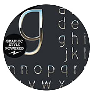 alfombrilla de ratón cromo plateado y el conjunto de alfabeto vector de aluminio. Arte Deco - ronda - 20cm