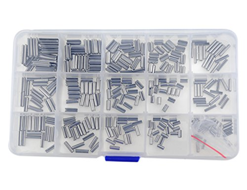 XLX 320pcs 16 Kinds 304 Stainless Steel Slotted Spring Pin Assortment kit (Split Spring Dowel Tension Roll Pins Set) M2 / M2.5 / M3 / M4