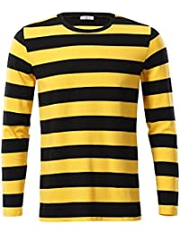 Men's Casual Long Sleeve Cotton Striped Shirt