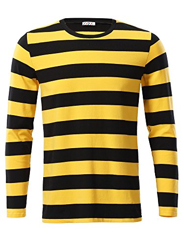 KIRA Mens Tshirt Casual Long Sleeve
