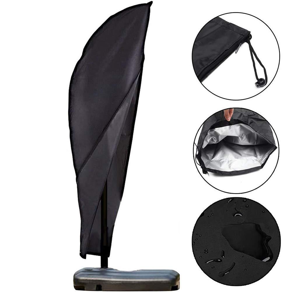 Hete-supply 210D Oxford Cloth Outdoor Umbrella Covers impermeabile con cerniera, patio Outdoor ombrellone copertura ombrellone da spiaggia di tutte le condizioni meteo protezione Fits 2,7m a 3,4m