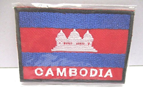 Cambodia Hang down Embroidered Patch Iron-On National Asia AEC