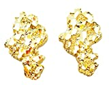 Mens 10k Yellow Gold Nugget Earrings