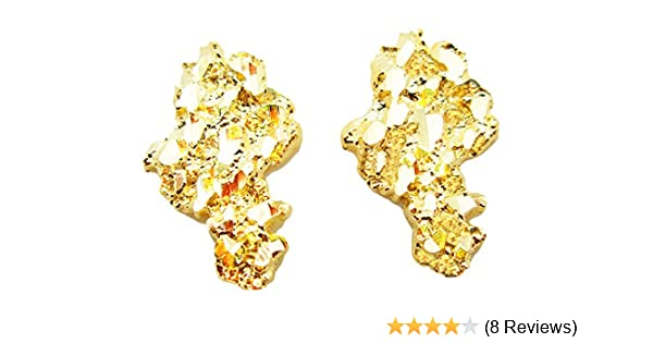 582dbd72d24e5 Mens 10k Yellow Gold Nugget Earrings