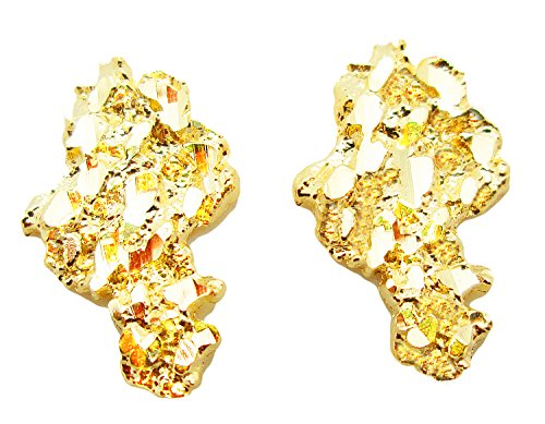 Mens 10k Yellow Gold Nugget Earrings (Ring Nugget Gold Yellow)