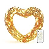 #6: 33 ft LED Decorative Lights Dimmable with Remote Control, eufy Starlit String Lights, Indoor and Outdoor, for Holiday, Wedding, Party (Copper Wire, Warm White)