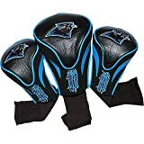 Team Golf Carolina Panthers 3 Pack Contour Headcover Golf Bag