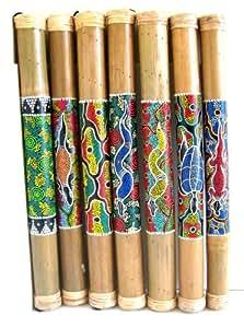Amazon Com Bamboo Rainstick Percussion Musical