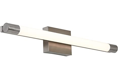 NEW Slim Line Modern Frosted Bathroom Vanity Light Fixture ...
