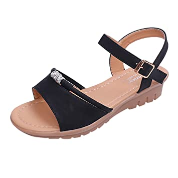 be8033d7c4265 Amazon.com: ❤ Sunbona Women's Flats Sandals Ladies Summer Open ...