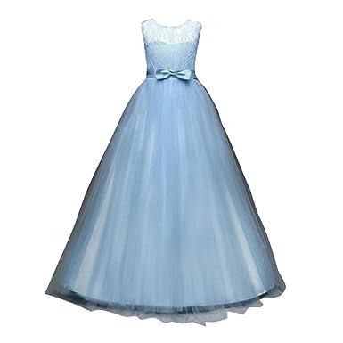 Zhien Kleid Mädchen Hochzeitskleider Tüll Festzug Abendkleid ...