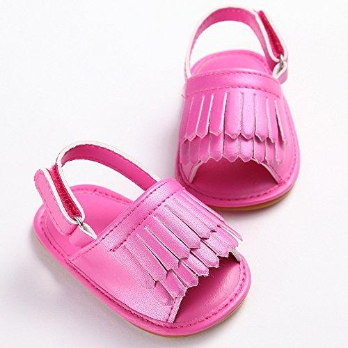 Amcool Baby Schuhe Neugeboren Infant Krippenschuhe Anti-slip Krabbelschuhe Sandalen Hot Pink