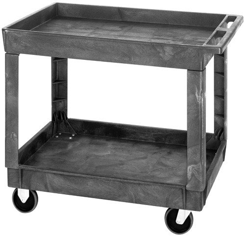 Quantum Storage PC4026-33 Polymer 2 Shelves Cart, 40 x 26 x 32.5 in. by Quantum Storage Systems