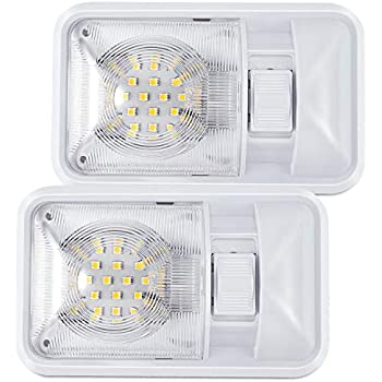 12 VOLT C310174 DOUBLE DOME CEILING CABIN LIGHT W// SWITCH MARINE BOAT