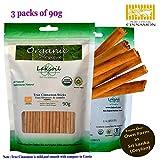 Certified Organic 270g/9.64oz Premium Grade Ceylon/True Cinnamon Sticks Sulfur Free( 90gx3)