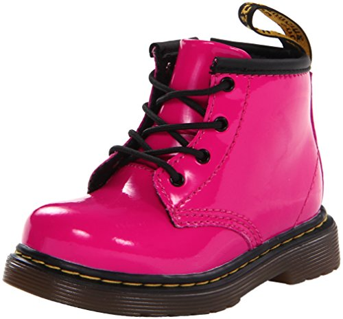 (Dr. Martens Girls' Brooklee b-K, Hot Pink Patent 5 UK(6 M US Toddler))