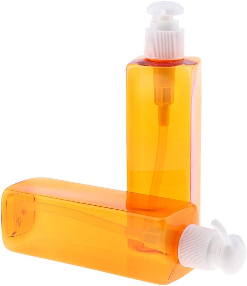 Pompe blanche Homyl 2x 500ml Vide Distributeur /à Pompe de Savon en Plastique Bouteille de Shampooing Rechargeables de Maison
