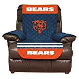 NFL Chicago Bears Recliner Reversible Furniture Protector with Elastic Straps, 80-inches by 65-inches