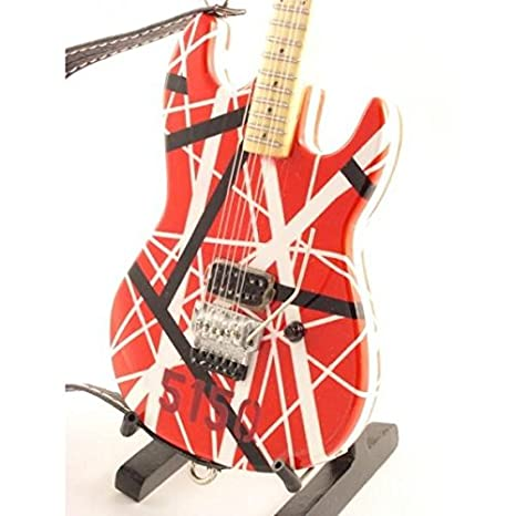 Eddie Van Halen miniature guitar replica: Amazon.es: Música