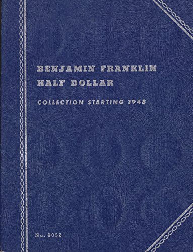 1948-DATE 1958 BENJAMIN FRANKLIN HALF DOLLAR ALBUM TRI-FOLD WHITMAN No 9032 #6