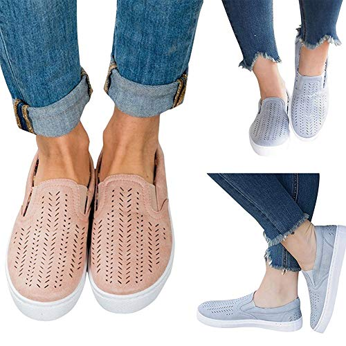 Blue Shoes Casual Flats Canvas Loafer Breathable Women's Pearl PHpAq0H