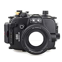 EACHSHOT 40m/130ft Underwater Diving Camera Housing for Canon G5X