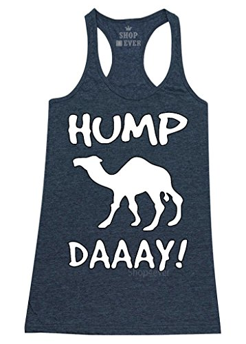 Shop4Ever® Camel Commercial Hump Day! Women's Racerback Tank Top Funny Tank Tops Large Navy 0