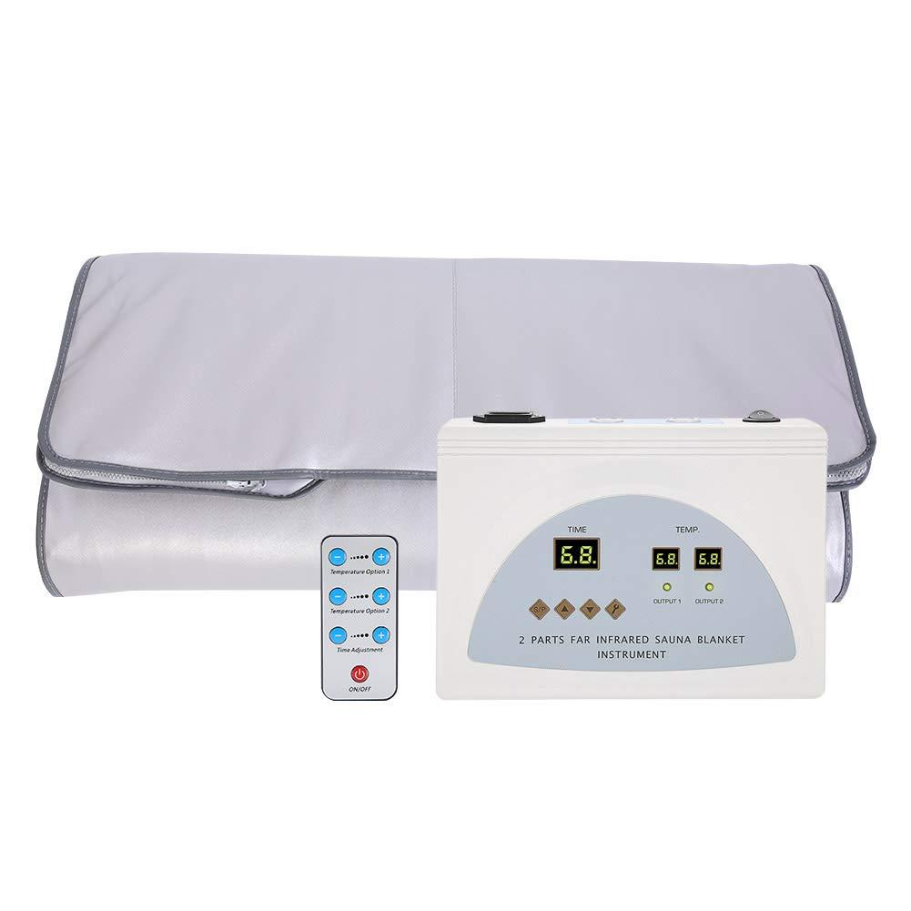 Sauna Blanket, 110V Sauna Heating Blanket Body Shape Slimming Fitness Machine US Plug for Personal Spa