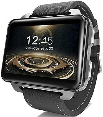 LEMFO LEM4 PRO - pantalla grande de 2.2 pulgadas Android 3G Reloj inteligente teléfono (smart watch), 1200mAh batería grande, cámara de 1.3MP, MT6580 1.3Ghz 16GB ROM: Amazon.es: Electrónica