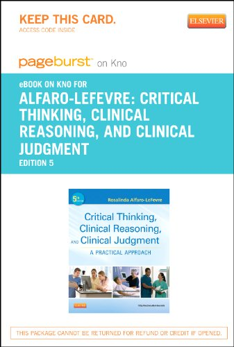 Depreciative Thinking, Clinical Reasoning and Clinical Judgment - Elsevier eBook on Intel Education Study (Retail Access Credit card): A Practical Approach, 5e