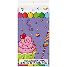 "Candy Party Plastic Tablecloth, 84"" x 54"""