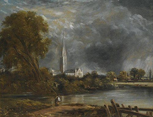 Gifts Delight Laminated 31x24 Poster John Constable - Salisbury Cathedral from The Meadows