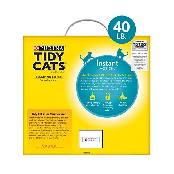 Purina Tidy Cats Instant Action Clumping Cat Litter - 40 lb. Box (00070230107121) 2