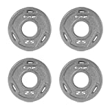 CAP Barbell 2-Inch Olympic Grip Plate, Various Sizes (s. 2.5-Pound, 4 Pack, Gray)
