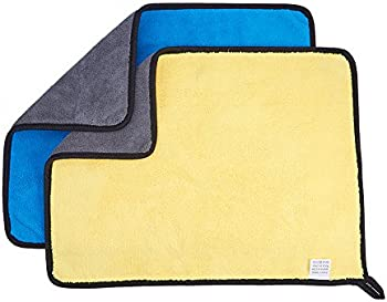 JSCARLIFE 11'' x 15'' Super Absorbent Microfiber Car Cleaning Towels