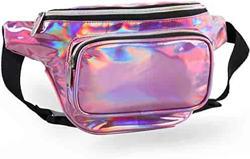 MUM'S MEMORY Holographic Fanny Packs for Women – Outdoor Sport Waist Pack for Running, Hiking, Traveling for Men